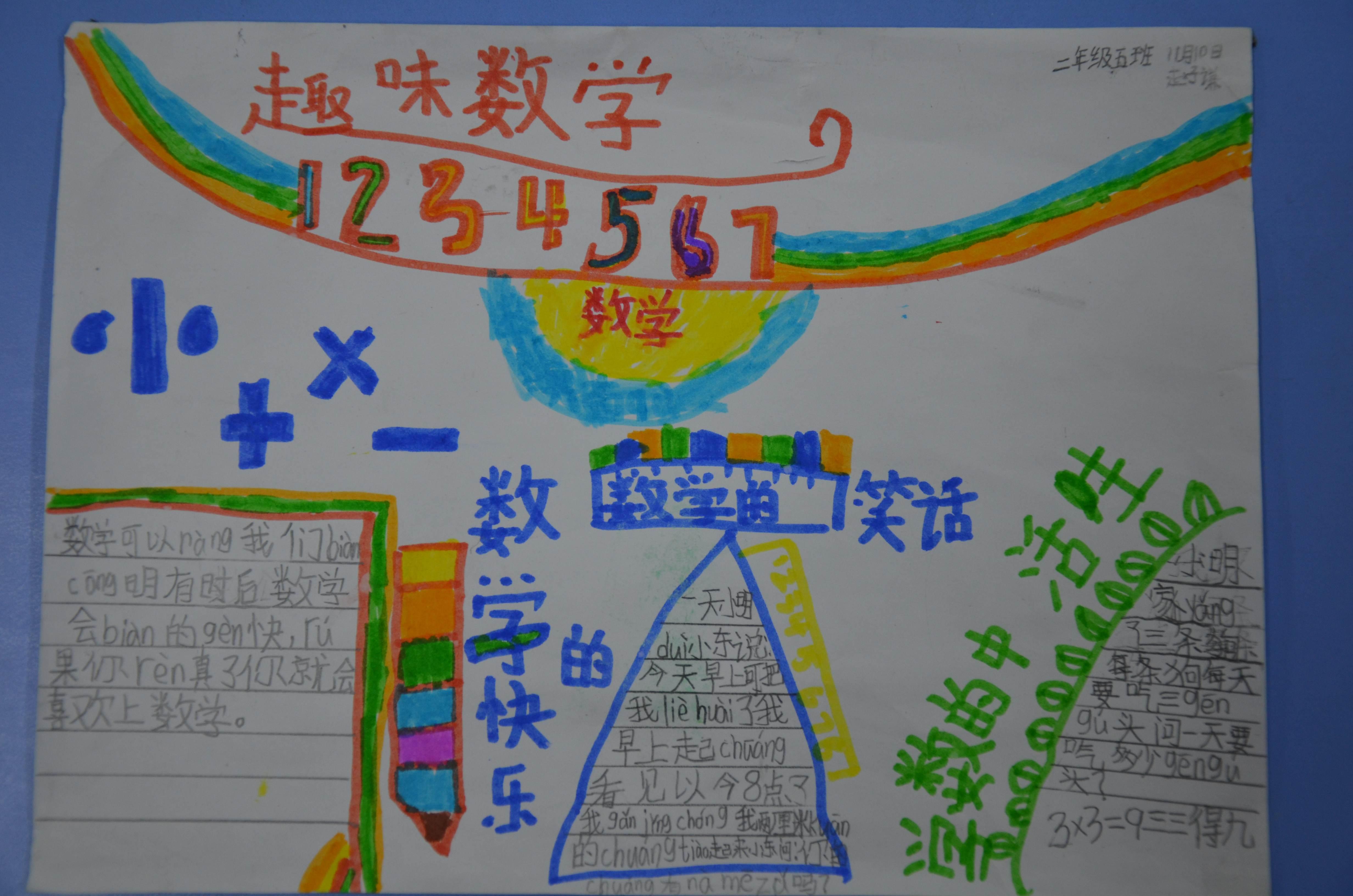 二年级数学文明城市手抄报